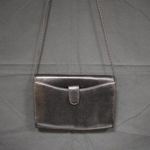 Rodo Italy Black Chain Purse